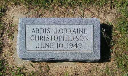 CHRISTOPHERSON, ARDIS LORRAINE - Lincoln County, South Dakota   ARDIS LORRAINE CHRISTOPHERSON - South Dakota Gravestone Photos