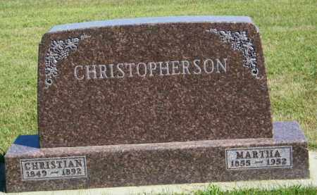 CHRISTOPHERSON, MARTHA - Lincoln County, South Dakota | MARTHA CHRISTOPHERSON - South Dakota Gravestone Photos