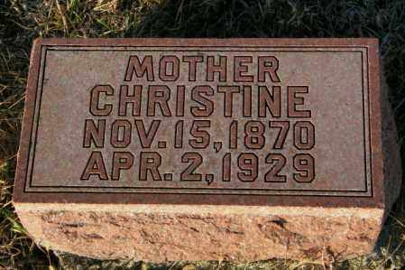 CHRISTOPHERSON, CHRISTINE - Lincoln County, South Dakota | CHRISTINE CHRISTOPHERSON - South Dakota Gravestone Photos