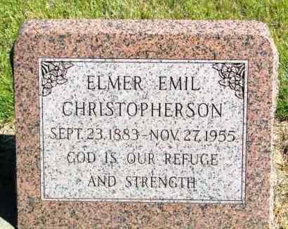 CHRISTOPHERSON, ELMER EMIL - Lincoln County, South Dakota   ELMER EMIL CHRISTOPHERSON - South Dakota Gravestone Photos