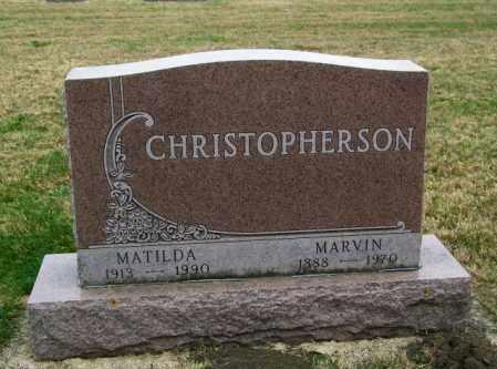 CHRISTOPHERSON, MATILDA - Lincoln County, South Dakota | MATILDA CHRISTOPHERSON - South Dakota Gravestone Photos