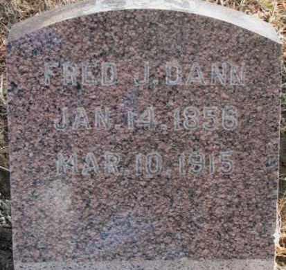 DANN, FRED - Lincoln County, South Dakota   FRED DANN - South Dakota Gravestone Photos