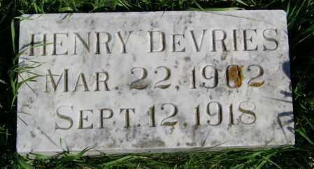 DEVRIES, HENRY - Lincoln County, South Dakota   HENRY DEVRIES - South Dakota Gravestone Photos
