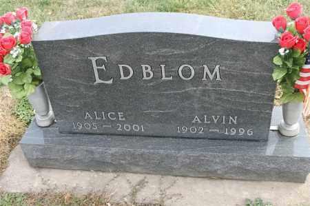 EDBLOM, ALICE - Lincoln County, South Dakota   ALICE EDBLOM - South Dakota Gravestone Photos