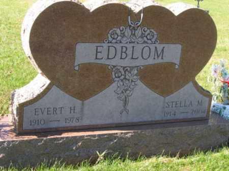 EDBLOM, EVERT H - Lincoln County, South Dakota | EVERT H EDBLOM - South Dakota Gravestone Photos