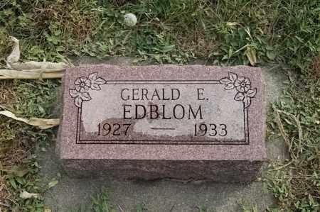EDBLOM, GERALD E - Lincoln County, South Dakota | GERALD E EDBLOM - South Dakota Gravestone Photos