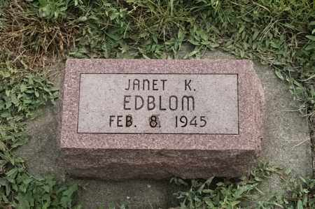 EDBLOM, JANET K - Lincoln County, South Dakota | JANET K EDBLOM - South Dakota Gravestone Photos
