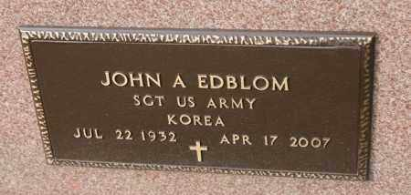 EDBLOM, JOHN A - Lincoln County, South Dakota | JOHN A EDBLOM - South Dakota Gravestone Photos