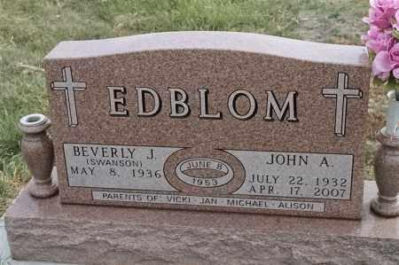 SWANSON EDBLOM, BEVERLY J - Lincoln County, South Dakota | BEVERLY J SWANSON EDBLOM - South Dakota Gravestone Photos