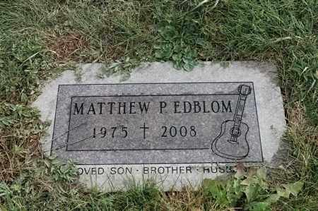 EDBLOM, MATTHEW P - Lincoln County, South Dakota | MATTHEW P EDBLOM - South Dakota Gravestone Photos