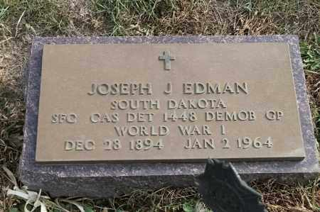 EDMAN, JOSEPH J - Lincoln County, South Dakota | JOSEPH J EDMAN - South Dakota Gravestone Photos