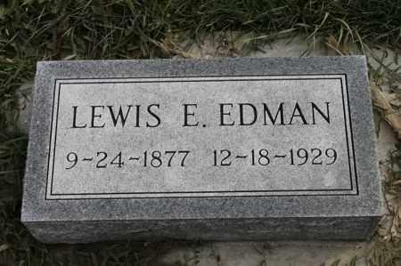 EDMAN, LEWIS E - Lincoln County, South Dakota | LEWIS E EDMAN - South Dakota Gravestone Photos