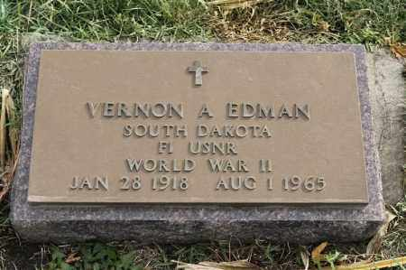 EDMAN, VERNON A - Lincoln County, South Dakota | VERNON A EDMAN - South Dakota Gravestone Photos