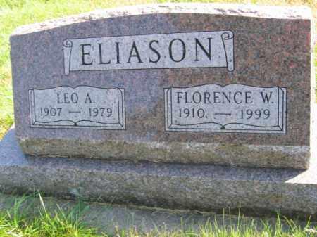 ELIASON, FLORENCE W - Lincoln County, South Dakota | FLORENCE W ELIASON - South Dakota Gravestone Photos