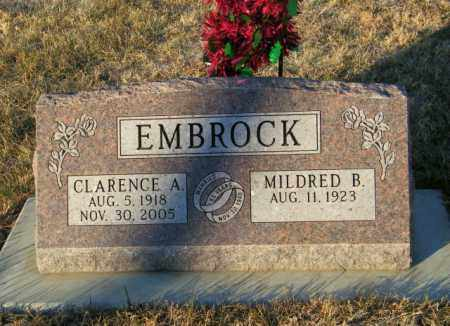 EMBROCK, CLARENCE A - Lincoln County, South Dakota | CLARENCE A EMBROCK - South Dakota Gravestone Photos