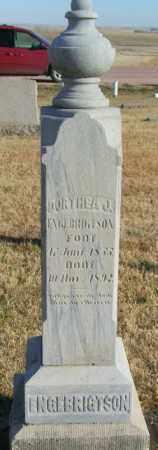 ENGEBRIGTSON, DORTHEA J - Lincoln County, South Dakota | DORTHEA J ENGEBRIGTSON - South Dakota Gravestone Photos