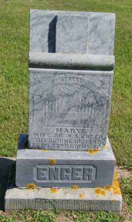 ENGER, MARY - Lincoln County, South Dakota | MARY ENGER - South Dakota Gravestone Photos
