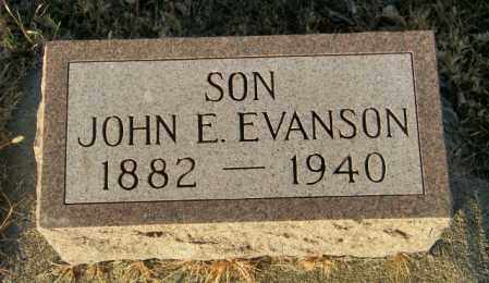 EVANSON, JOHN E - Lincoln County, South Dakota | JOHN E EVANSON - South Dakota Gravestone Photos