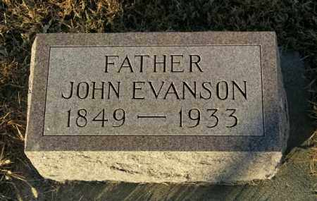 EVANSON, JOHN - Lincoln County, South Dakota | JOHN EVANSON - South Dakota Gravestone Photos
