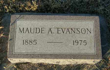 EVANSON, MAUDE A - Lincoln County, South Dakota | MAUDE A EVANSON - South Dakota Gravestone Photos