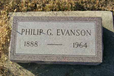 EVANSON, PHILIP G - Lincoln County, South Dakota | PHILIP G EVANSON - South Dakota Gravestone Photos