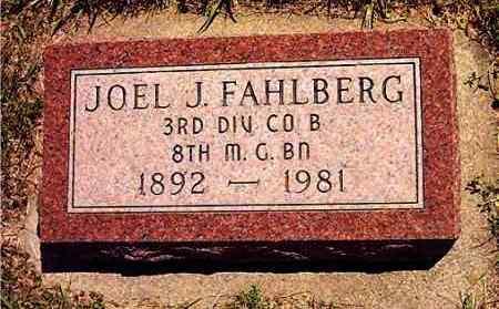 FAHLBERG, JOEL JONATHAN - Lincoln County, South Dakota | JOEL JONATHAN FAHLBERG - South Dakota Gravestone Photos