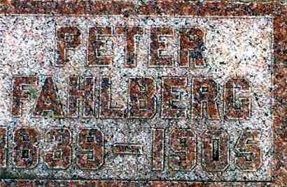 FAHLBERG, PETER - Lincoln County, South Dakota   PETER FAHLBERG - South Dakota Gravestone Photos