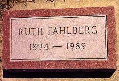 SWANSTROM FAHLBERG, RUTH - Lincoln County, South Dakota | RUTH SWANSTROM FAHLBERG - South Dakota Gravestone Photos