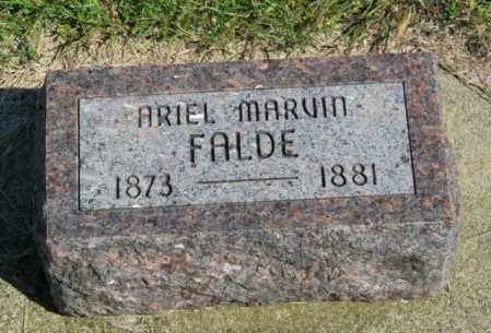 FALDE, ARIEL MARVIN - Lincoln County, South Dakota | ARIEL MARVIN FALDE - South Dakota Gravestone Photos