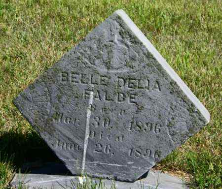 FALDE, BELLE DELIA - Lincoln County, South Dakota | BELLE DELIA FALDE - South Dakota Gravestone Photos