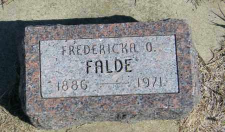 FALDE, FREDERICKA O - Lincoln County, South Dakota | FREDERICKA O FALDE - South Dakota Gravestone Photos