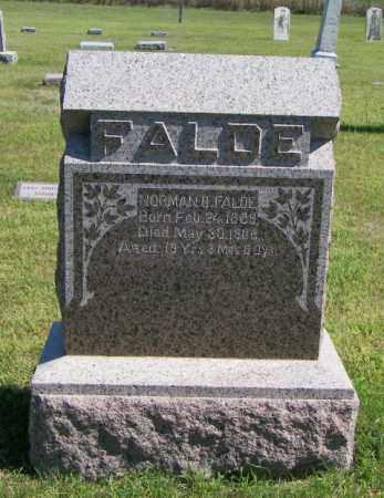 FALDE, NORMAN B - Lincoln County, South Dakota   NORMAN B FALDE - South Dakota Gravestone Photos