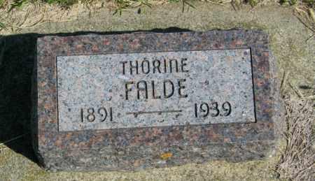 FALDE, THORINE - Lincoln County, South Dakota | THORINE FALDE - South Dakota Gravestone Photos