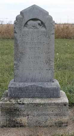 FORSBERG, ADINA CHRISTINA - Lincoln County, South Dakota | ADINA CHRISTINA FORSBERG - South Dakota Gravestone Photos