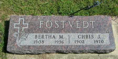 FOSTVEDT, BERTHA M - Lincoln County, South Dakota | BERTHA M FOSTVEDT - South Dakota Gravestone Photos