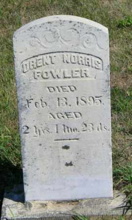 FOWLER, ORENT NORRIS - Lincoln County, South Dakota   ORENT NORRIS FOWLER - South Dakota Gravestone Photos