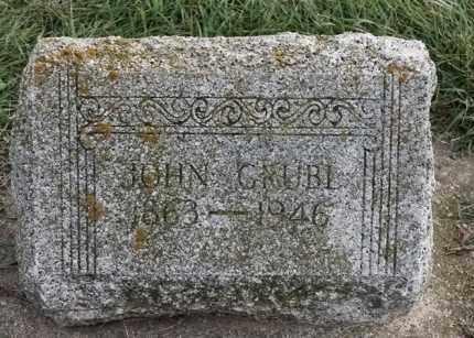 GRUBL, JOHN - Lincoln County, South Dakota | JOHN GRUBL - South Dakota Gravestone Photos