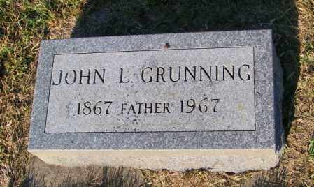 GRUNNING, JOHN L - Lincoln County, South Dakota   JOHN L GRUNNING - South Dakota Gravestone Photos
