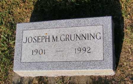 GRUNNING, JOSEPH M - Lincoln County, South Dakota | JOSEPH M GRUNNING - South Dakota Gravestone Photos