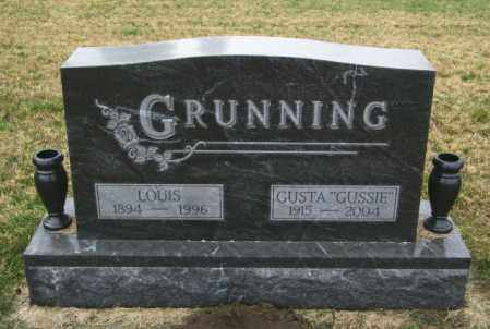 GRUNNING, GUSTA - Lincoln County, South Dakota | GUSTA GRUNNING - South Dakota Gravestone Photos