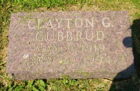 GUBBRUD, CLAYTON G - Lincoln County, South Dakota   CLAYTON G GUBBRUD - South Dakota Gravestone Photos