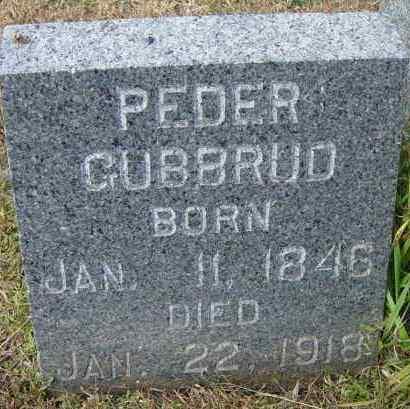 GUBBRUD, PEDER - Lincoln County, South Dakota | PEDER GUBBRUD - South Dakota Gravestone Photos
