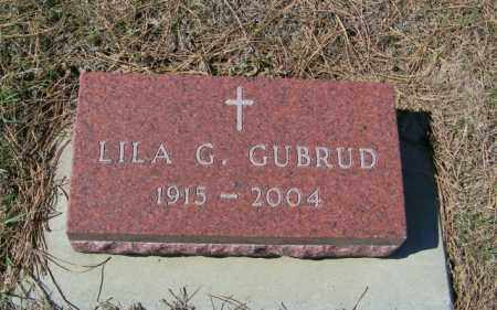 GUBRUD, LILA G - Lincoln County, South Dakota | LILA G GUBRUD - South Dakota Gravestone Photos