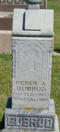 GUBRUD, PEDER A - Lincoln County, South Dakota | PEDER A GUBRUD - South Dakota Gravestone Photos