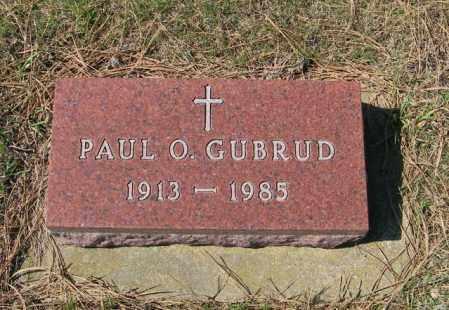 GUBRUD, PAUL O - Lincoln County, South Dakota | PAUL O GUBRUD - South Dakota Gravestone Photos