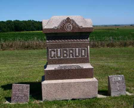 GUBRUD PLOT, PAUL - Lincoln County, South Dakota | PAUL GUBRUD PLOT - South Dakota Gravestone Photos