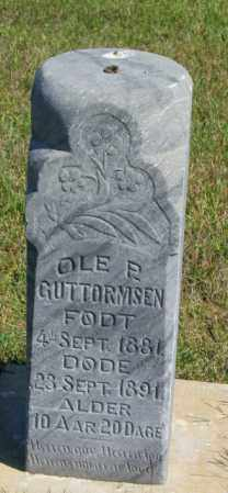 GUTTORMSEN, OLE P - Lincoln County, South Dakota   OLE P GUTTORMSEN - South Dakota Gravestone Photos