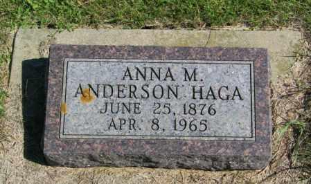 ANDERSON HAGA, ANNA M - Lincoln County, South Dakota | ANNA M ANDERSON HAGA - South Dakota Gravestone Photos