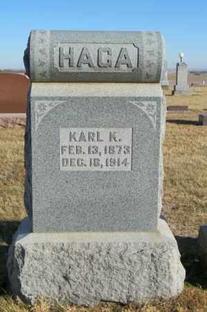 HAGA, KARL K - Lincoln County, South Dakota   KARL K HAGA - South Dakota Gravestone Photos
