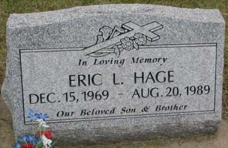 HAGE, ERIC L. - Lincoln County, South Dakota   ERIC L. HAGE - South Dakota Gravestone Photos